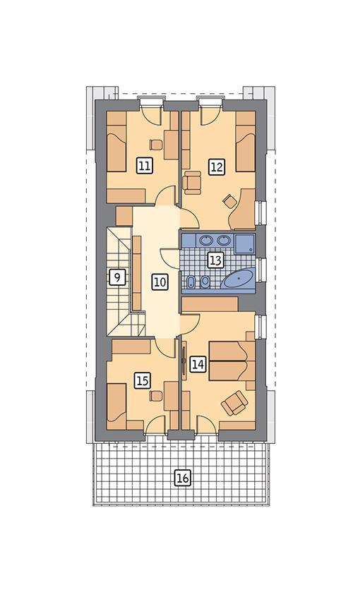 Rzut poddasza POW. 94,3 m²