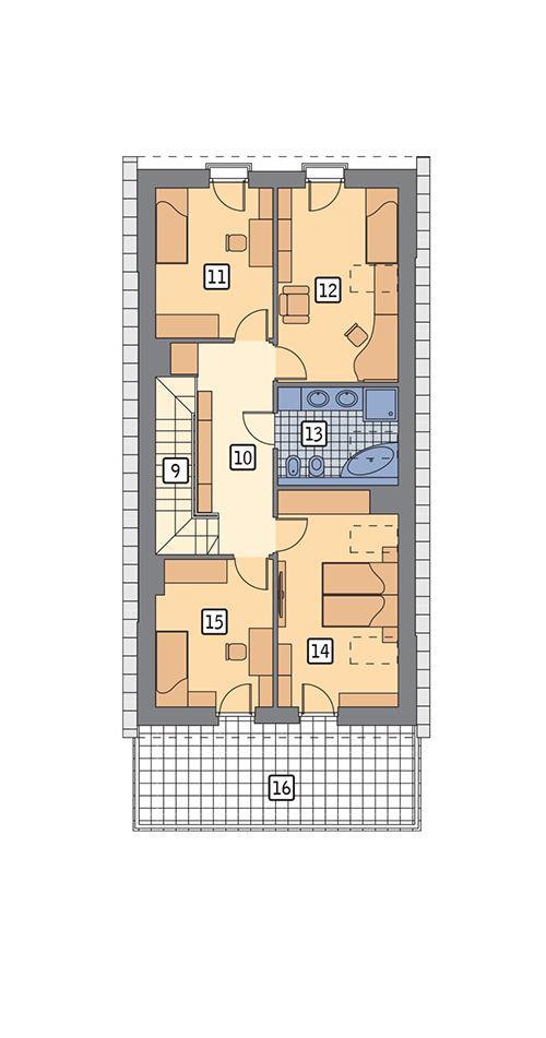 Rzut poddasza POW. 94,4 m²