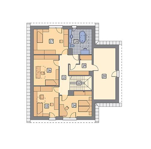Rzut poddasza POW. 119,1 m²
