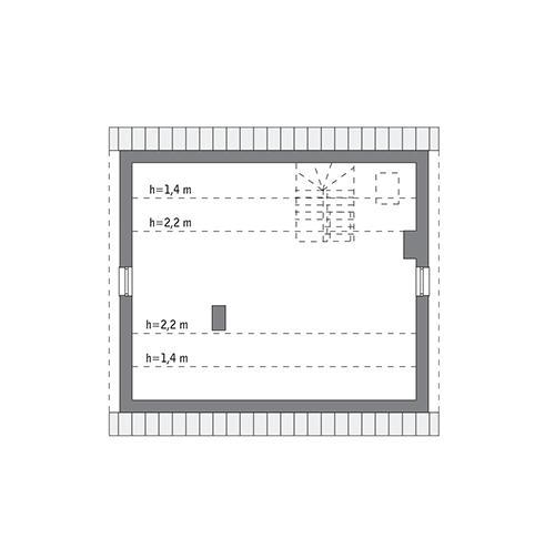 RZUT PODDASZA: do indywidualnej adaptacji (47,9 m2 powierzchni użytkowej)