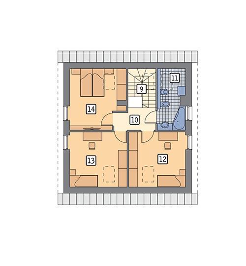 Rzut poddasza POW. 60,0 m²