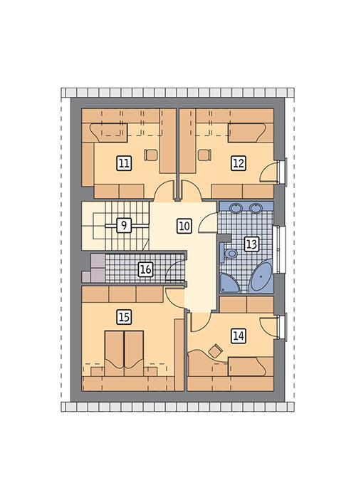 Rzut poddasza POW. 88,7 m²