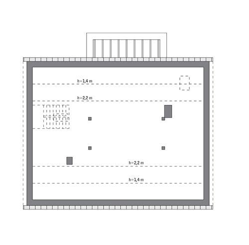 Rzut poddasza: do indywidualnej adaptacji (92,6 m2 powierzchni użytkowej)