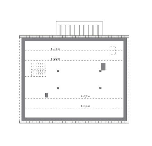 Rzut poddasza: do indywidualnej adaptacji (92,7 m2 powierzchni użytkowej)