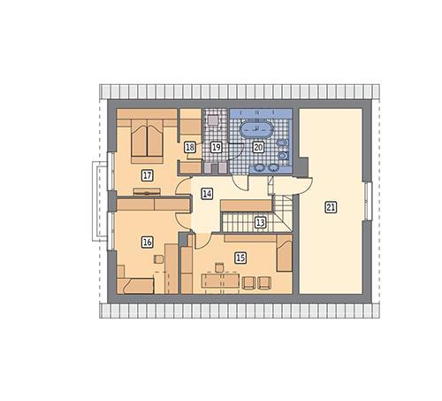 Rzut poddasza POW. 111,6 m²