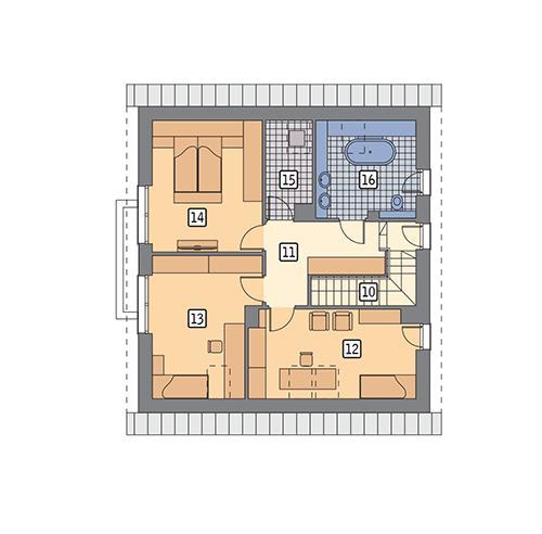 Rzut poddasza POW. 80,6 m²