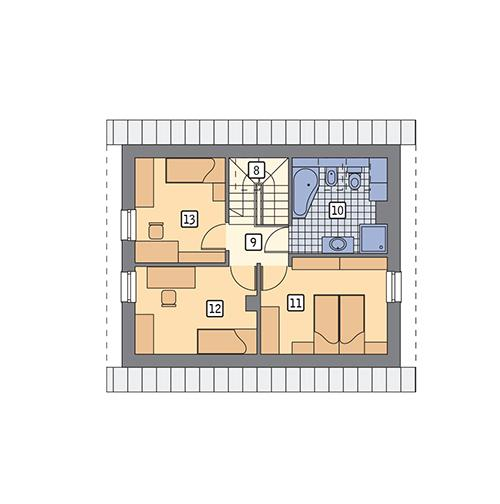 Rzut poddasza POW. 49,3 m²
