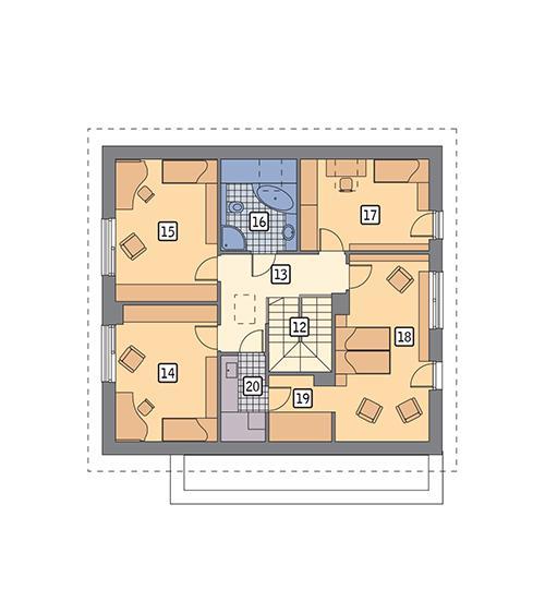 Rzut poddasza POW. 101,1 m²