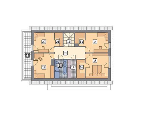 Rzut poddasza POW. 116,6 m²
