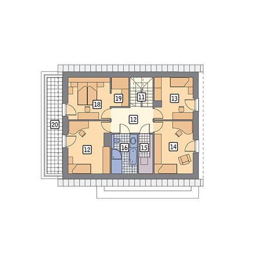 Rzut poddasza POW. 96,6 m²
