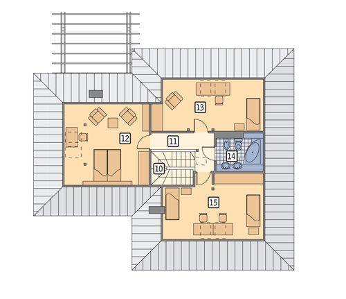 Rzut poddasza POW. 84,3 m²