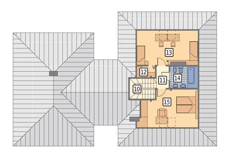 Rzut poddasza POW. 57,3 m²