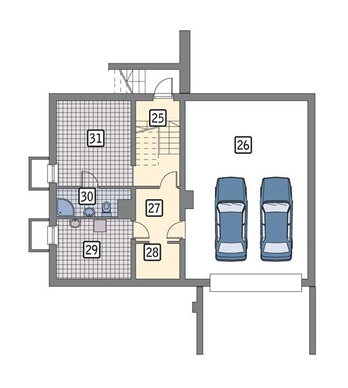 Rzut piwnicy POW. 100,3 m²