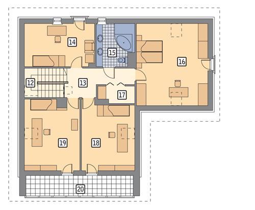 Rzut poddasza POW. 126,3 m²