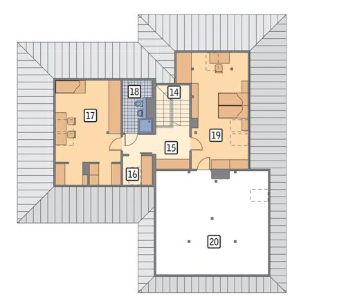 Rzut poddasza POW. 127,9 m²