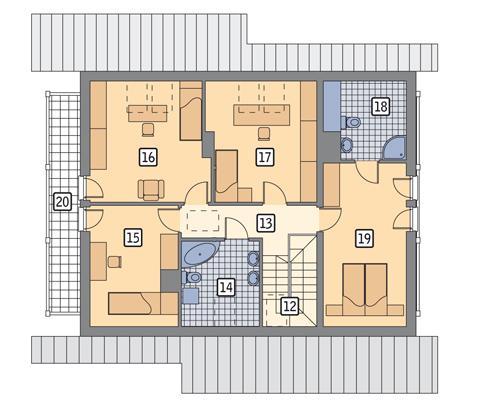Rzut poddasza POW. 108,0 m²