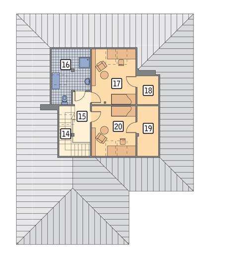 Rzut poddasza POW. 61,0 m²