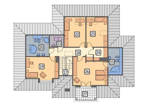 Rzut poddasza POW. 131,4 m²