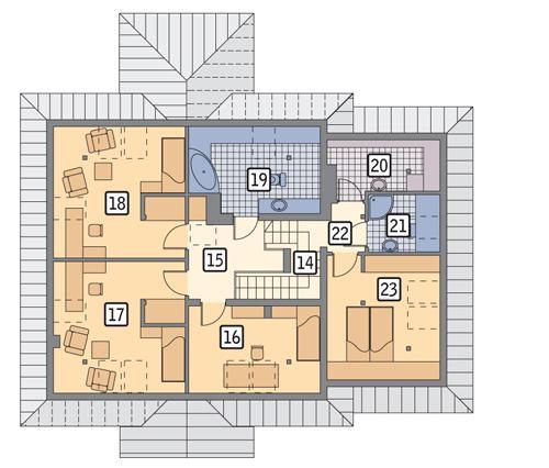 Rzut poddasza POW. 113,1 m²