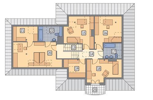 Rzut poddasza POW. 138,1 m²