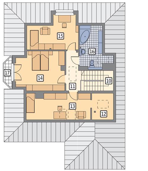Rzut poddasza POW. 97,5 m²
