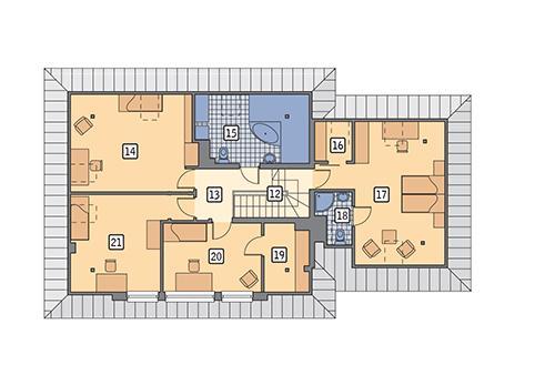 Rzut poddasza POW. 118,8 m²