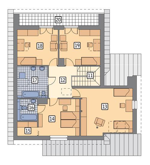 Rzut poddasza POW. 111,7 m²
