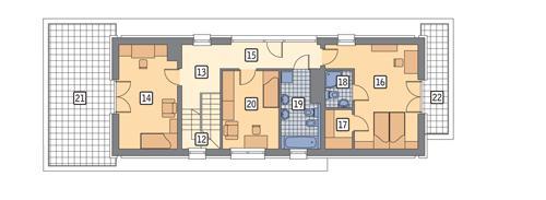 Rzut piętra POW. 114,5 m²