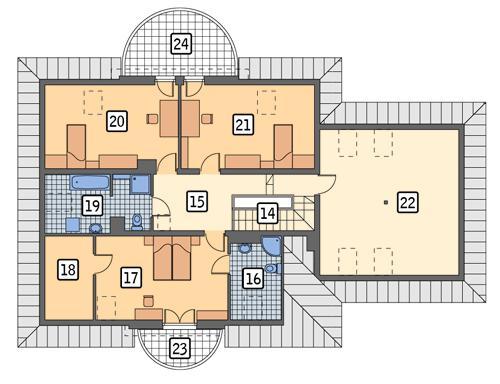 Rzut poddasza POW. 159,8 m²