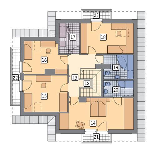 Rzut poddasza POW. 111,9 m²