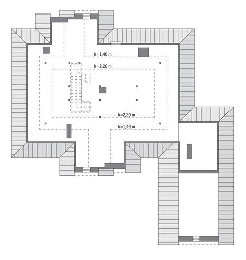 Rzut poddasza: do indywidualnej adaptacji (ponad 70,0 m2 powierzchni użytkowej)
