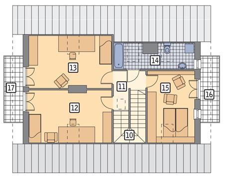 Rzut poddasza POW. 83,4 m²