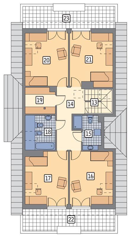 Rzut poddasza POW. 132,6 m²