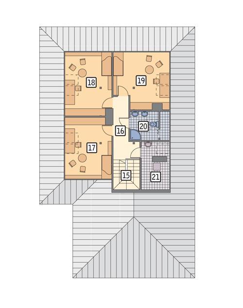 Rzut poddasza POW. 87,0 m²