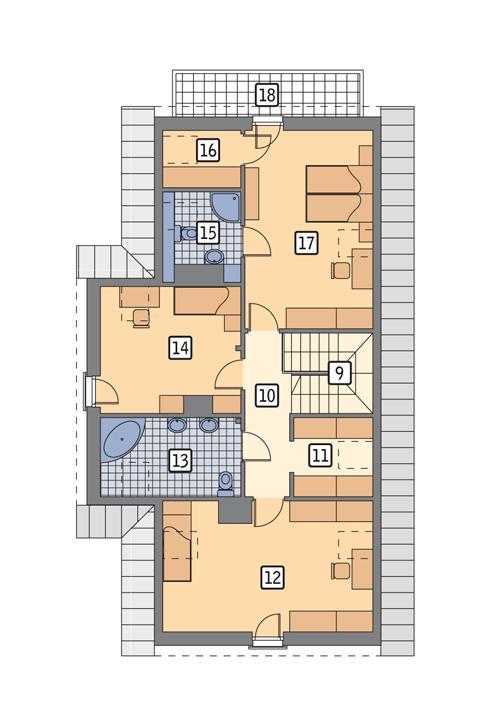 Rzut poddasza POW. 97,3 m²
