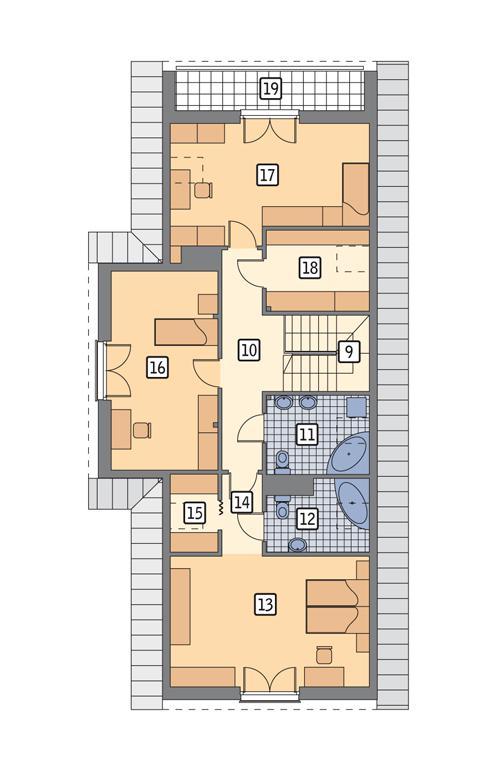 Rzut poddasza POW. 113,6 m²