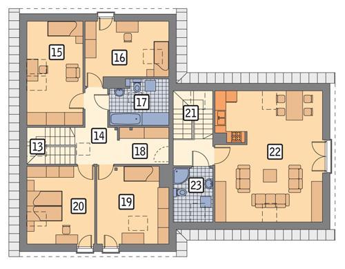 Rzut poddasza POW. 143,3 m²