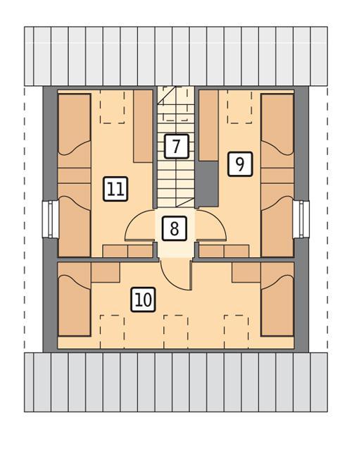 Rzut poddasza POW. 42,7 m²