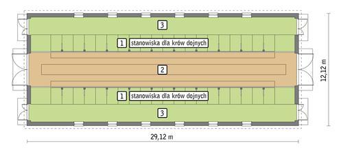 Rzut przyziemia POW. 319,8 m²
