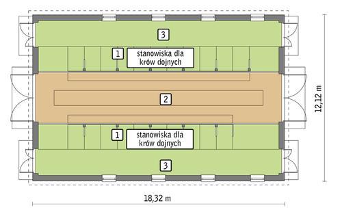 Rzut przyziemia POW. 197,8 m²