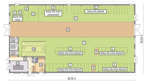 Rzut przyziemia POW. 930,2 m²