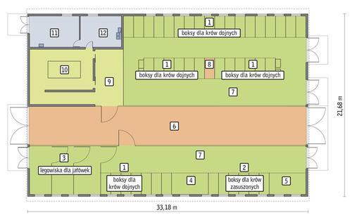 Rzut przyziemia POW. 678,5 m²