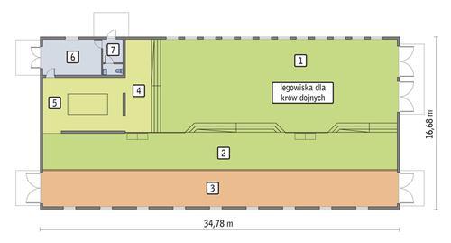 Rzut przyziemia POW. 541,3 m²