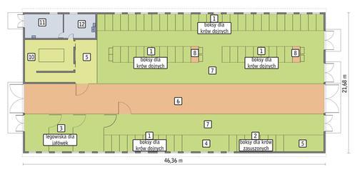 Rzut przyziemia POW. 962,5 m²
