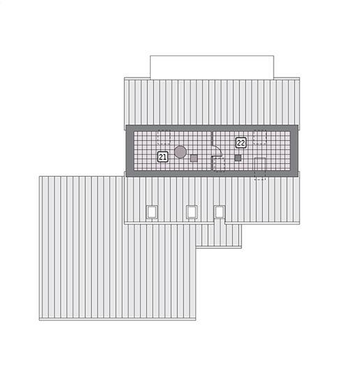 Rzut strychu POW. 42,5 m²