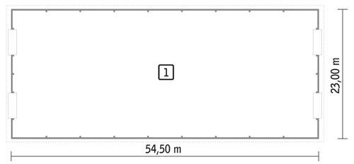 RZUT PARTERU POW. 1 211,9 m²