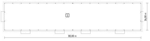 Rzut parteru POW. 1 277,1 m²