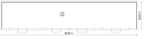 Rzut parteru POW. 1 250,4 m²
