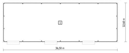 Rzut parteru POW. 422,4 m²