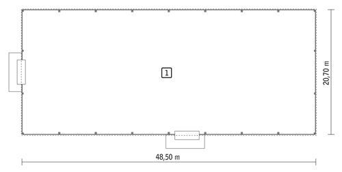 Rzut parteru POW. 944,5 m²